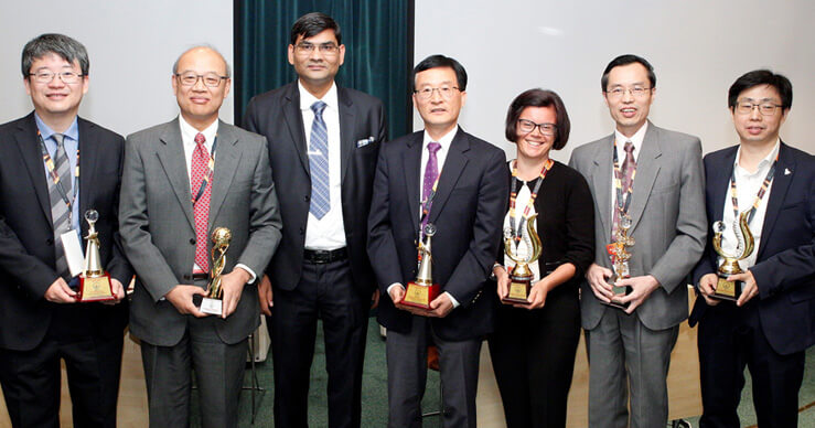 Delegates with their awards | IAAM
