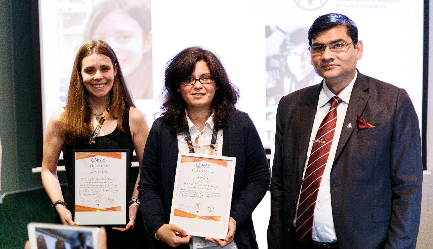 Best oral presentation award given by Dr. Ashutosh Tiwari | IAAM