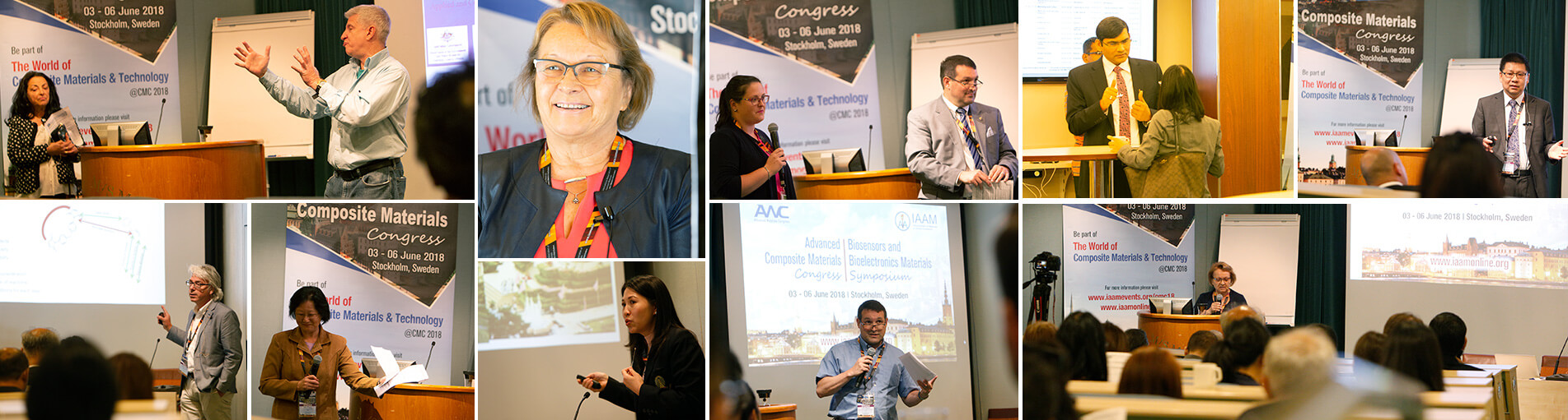 Lecturers during composite materials congress event | IAAM