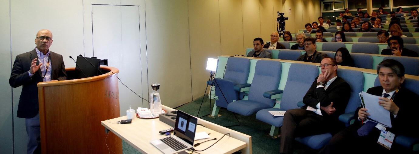 Prof. Venigalla Rao during the plenary talk | IAAM