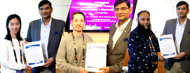Best Poster Presentation Award from Dr. Ashutosh Tiwari | IAAM