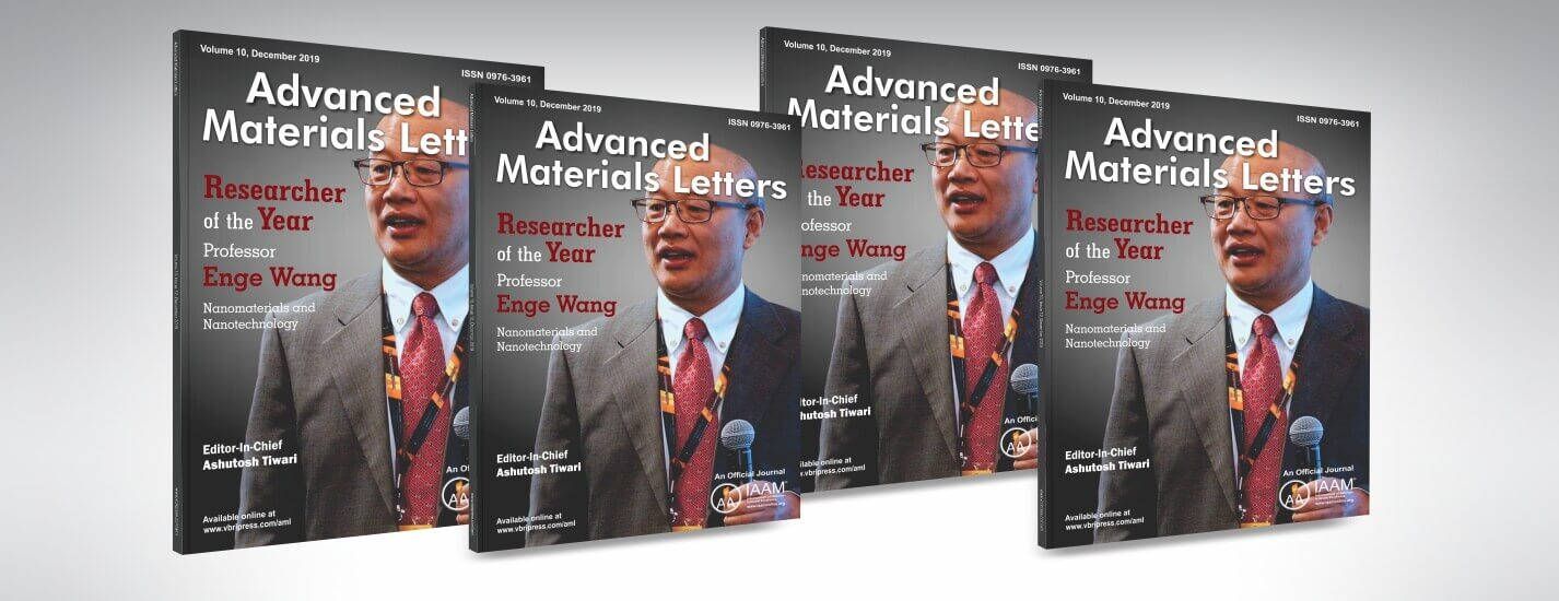 Cover Photo of Advanced Materials Letters, December 2019 | IAAM
