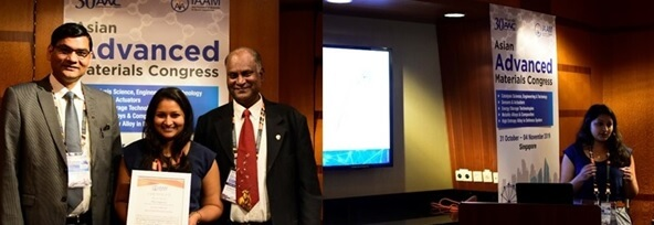 The best oral presentation award conferred to Dr. Alka Jaggessar | IAAM