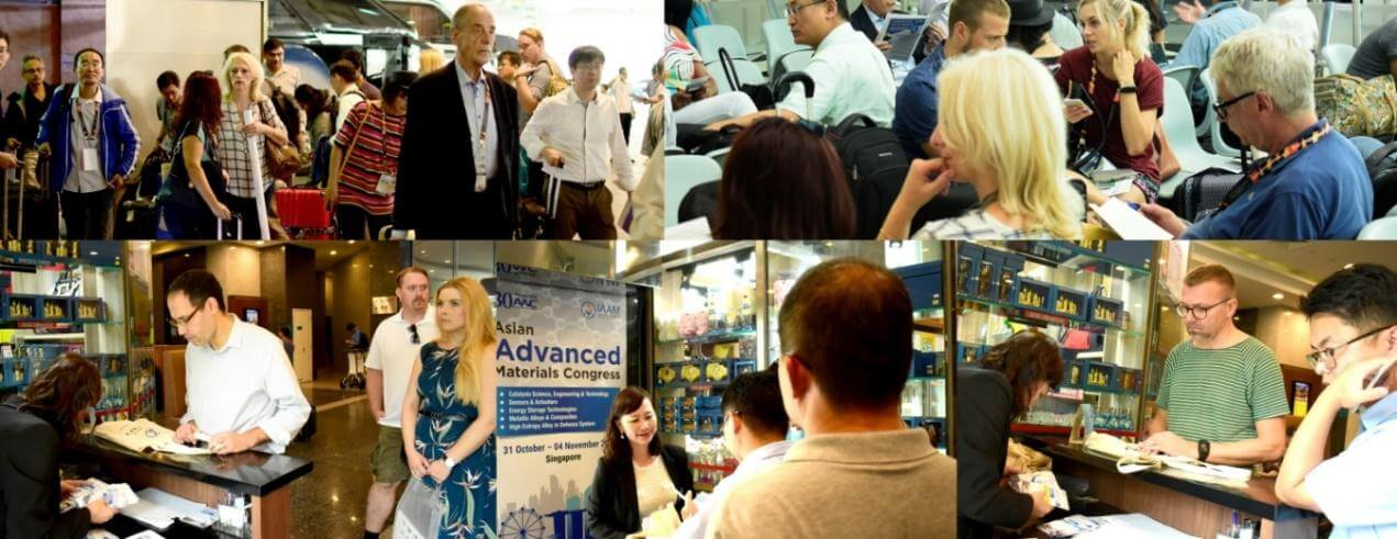 Registration of conference delegates in the Asian Advanced Materials Congress | IAAM