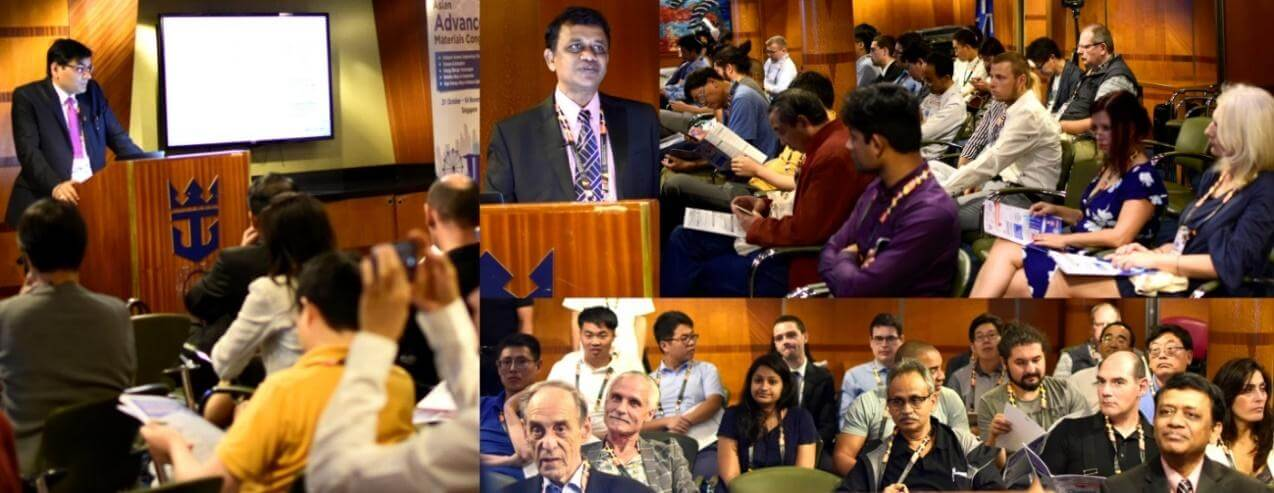 Eminent plenary speakers during the Asian Advanced Materials Congress | IAAM