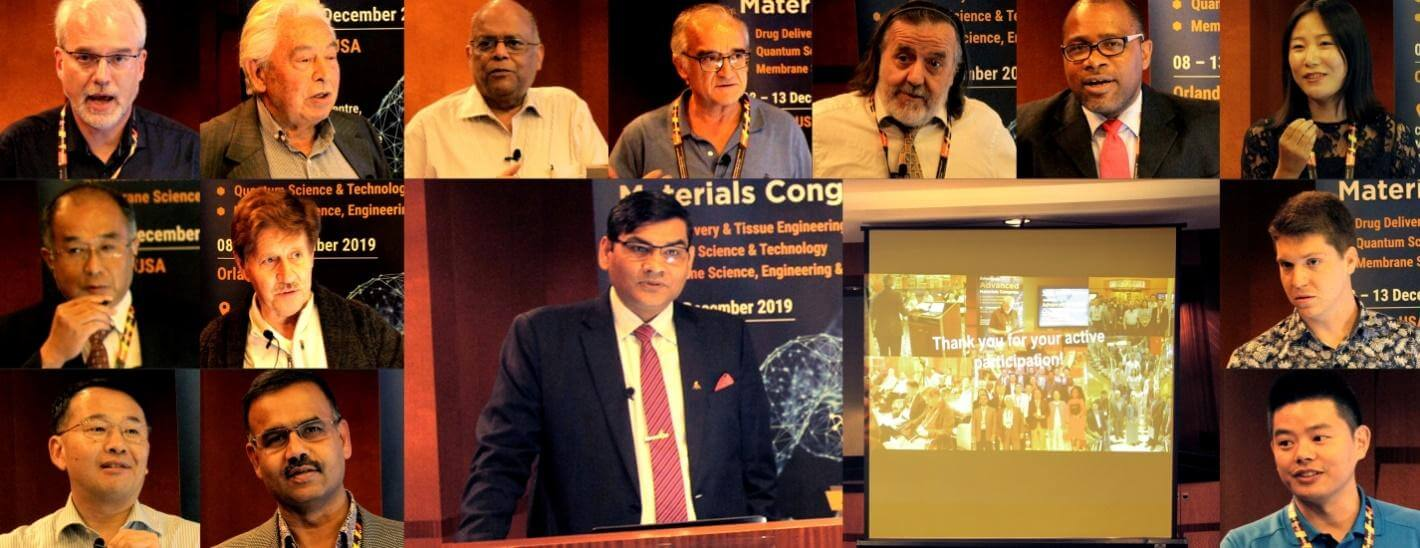 distinguished speakers during the closing ceremony of American Advanced Materials Congress | IAAM