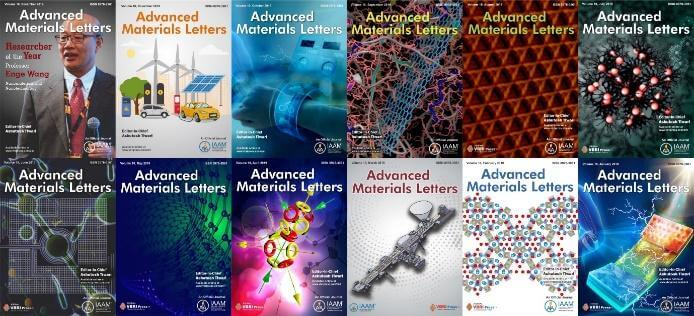 The Advanced Materials Letters journal publishes peer-reviewed articles in the field of Advanced materials science