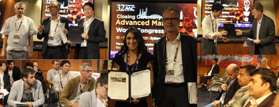 The best oral & poster presentation awards during closing ceremony of 32nd AMC 2020, Australia | IAAM