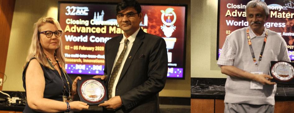 Guest of Honour presented to Prof. Laima Cesoniene & Prof. Pratim K. Chattaraj at 32nd AMC 2020 | IAAM