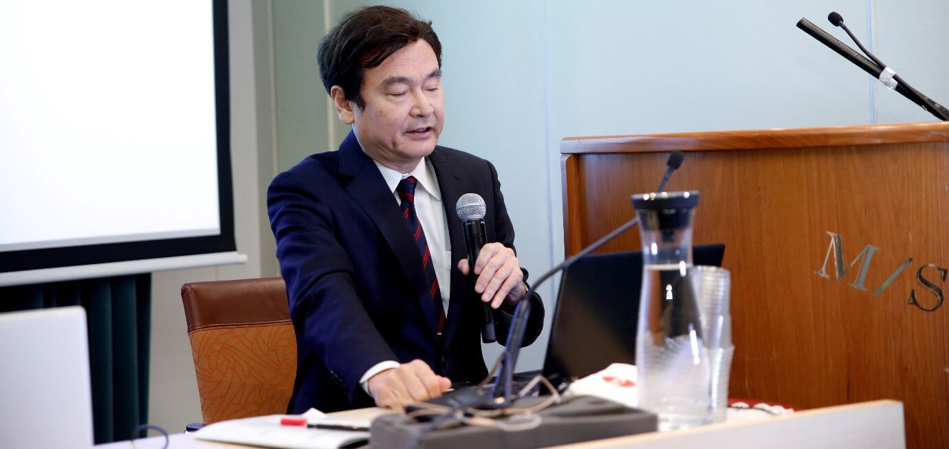 Prof. Masaru Tomita discussing horizon of Cancer Nanotechnology during the keynote session